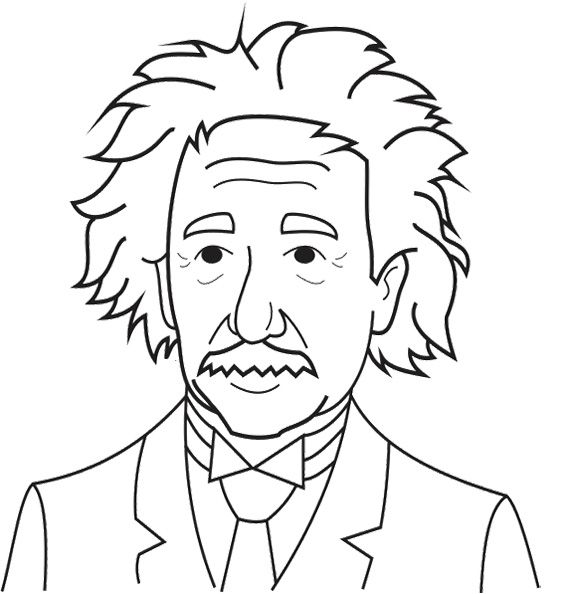albert einstein coloring pages for adult
