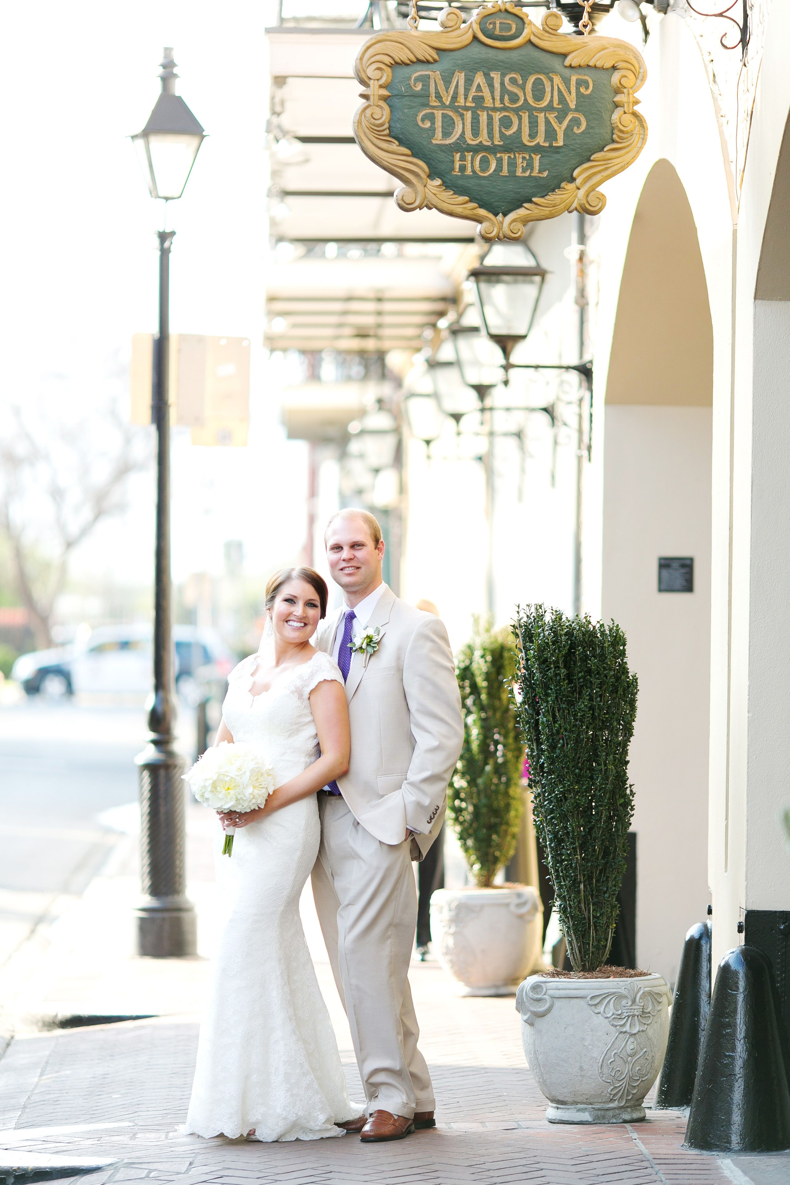 Meredith And Rob Wanted A Traditional New Orleans Wedding With Neutral Color Palette They Chose For Three Specific Reasons