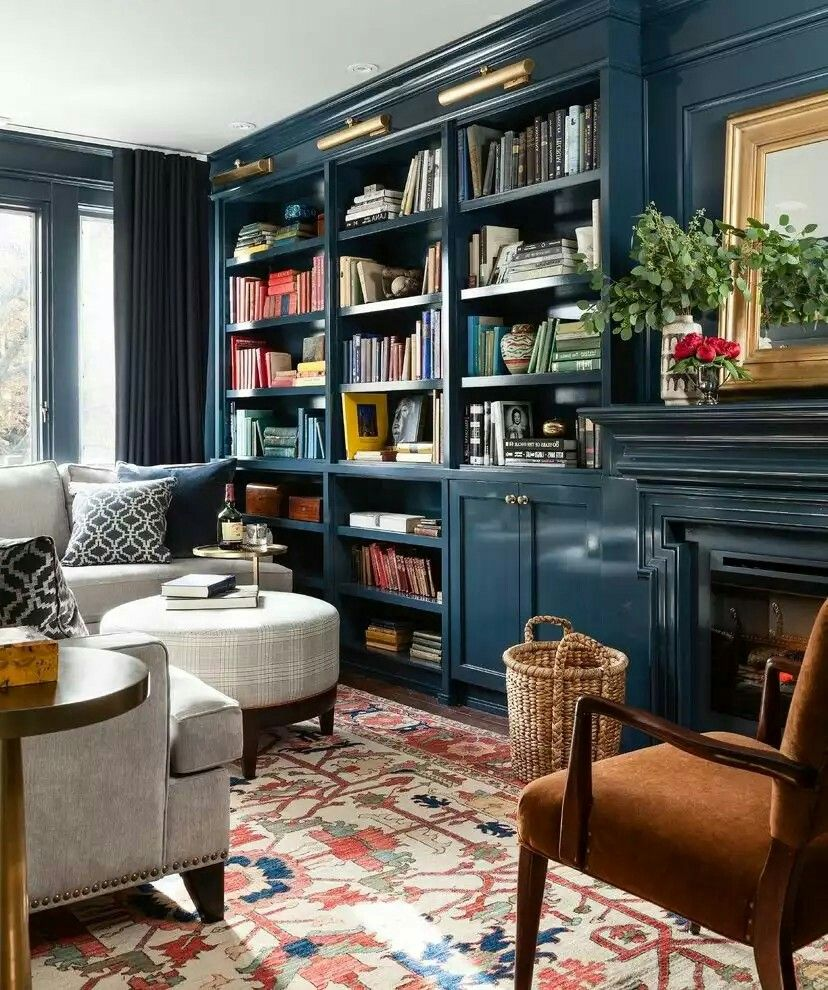 Cozy Study Room Ideas: Home Library Design, Library Room, Home