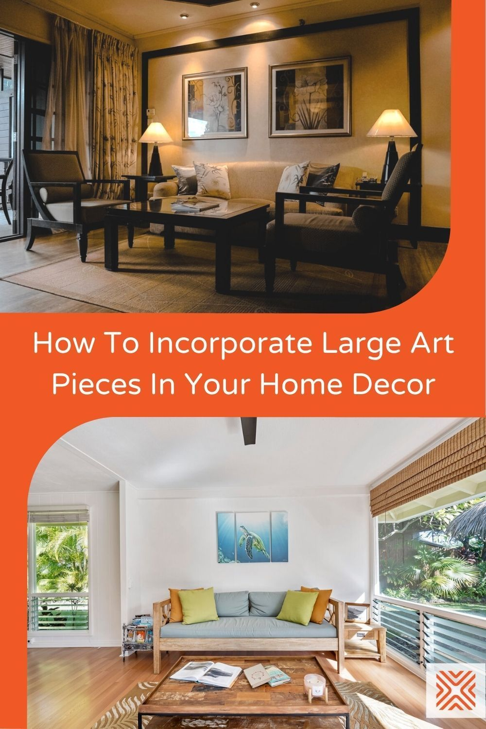 If you love a clean, minimalist style but want to add pops of color to lift a neutral interior, a large scale art piece is just what your interior needs. Learn how to add art to your home decor here.