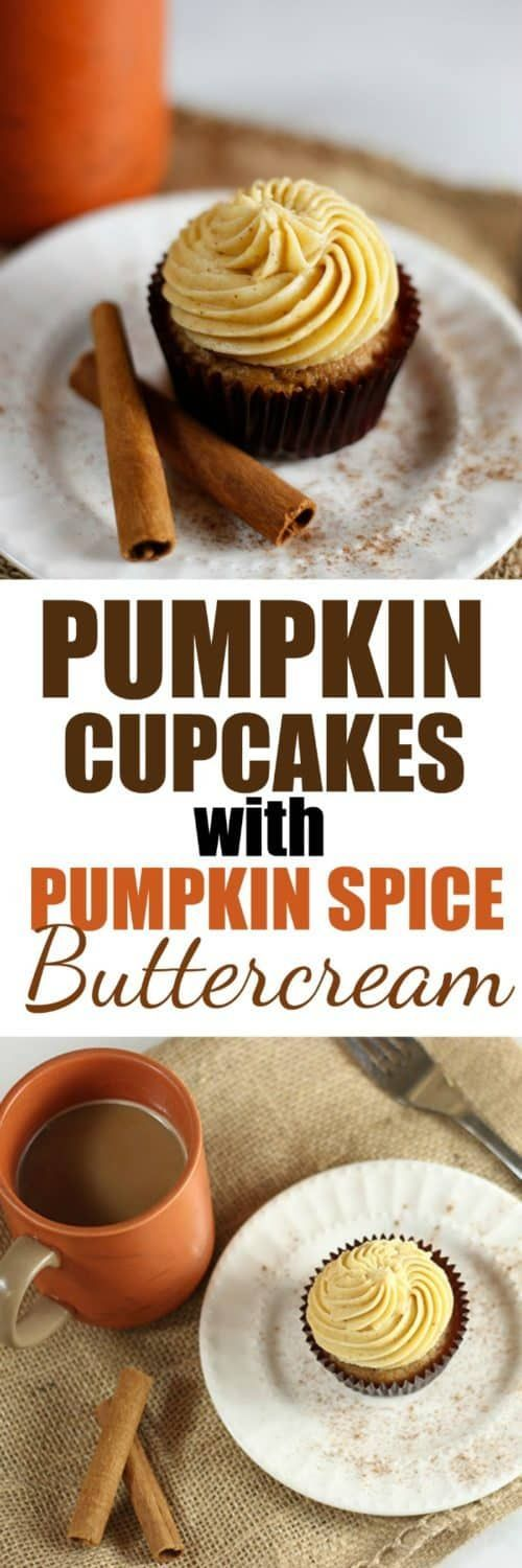Pumpkin Cupcakes with Pumpkin Spice Buttercream #pumpkinspicecupcakes Pumpkin Cupcakes with Pumpkin Spice Buttercream | Rose Bakes #pumpkinspicecupcakes