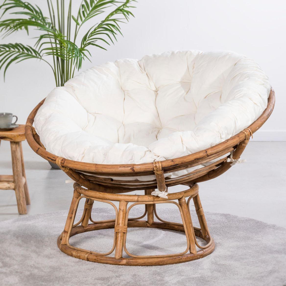 Papasan Chaise Lounge Naturel Blanc Casse H 85 Cm O 113 Cm Papasan Chaise Lounge Naturel Blanc Casse H 85 Cm O Chaise De Chambre Fauteuil Casa Salon Lounge