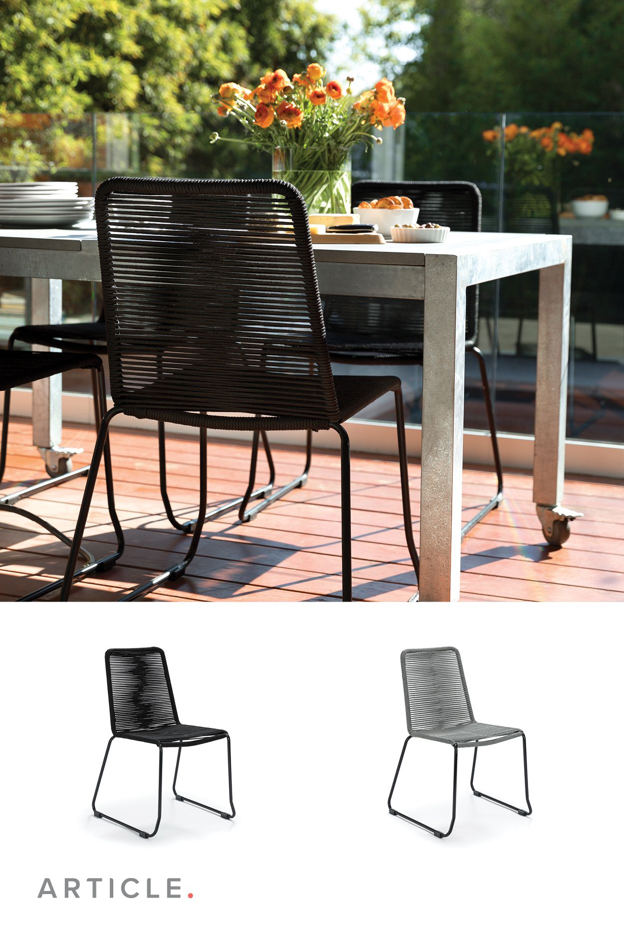 Pleasant The Como Dining Chairs Rope Seating Performs Indoor And Andrewgaddart Wooden Chair Designs For Living Room Andrewgaddartcom