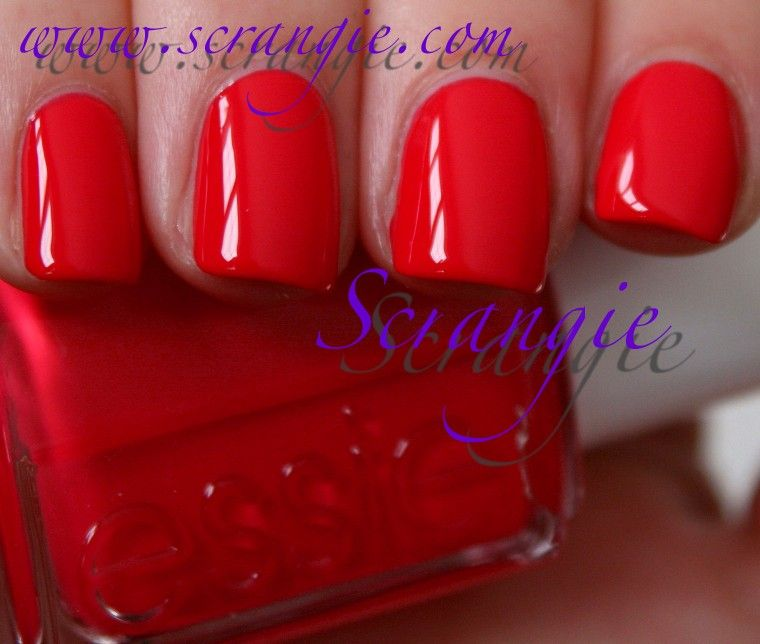 Essie - ole caliente, perfect red/coral for summer | Uñas | Pinterest