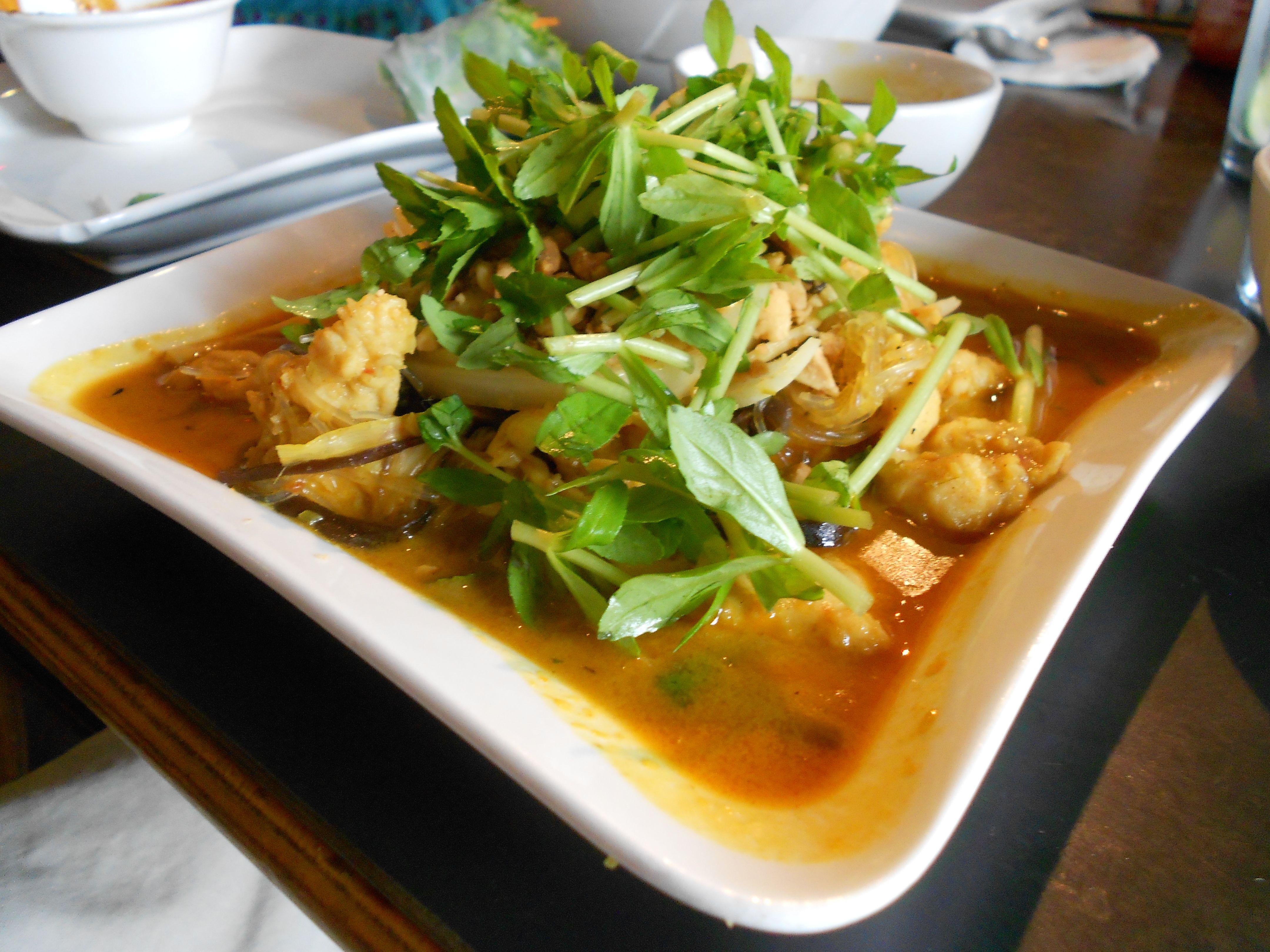 Menu asian cuisine