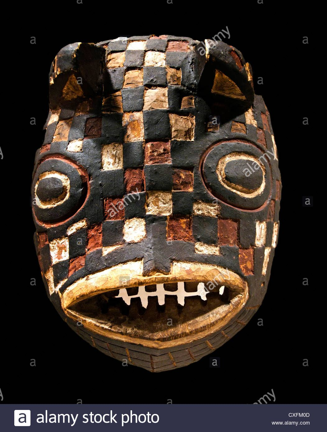Mask Fish ( Basi ) Burkina Faso Bwa Peoples 19 - 20 Century Africa Stock Photo