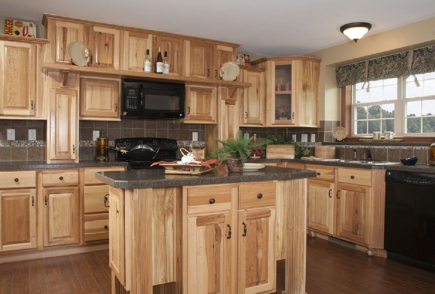 Love These Cabinets And Dark Counter From Home Depot Rustic Kitchen Cabinets Home Depot Kitchen New Kitchen Cabinets