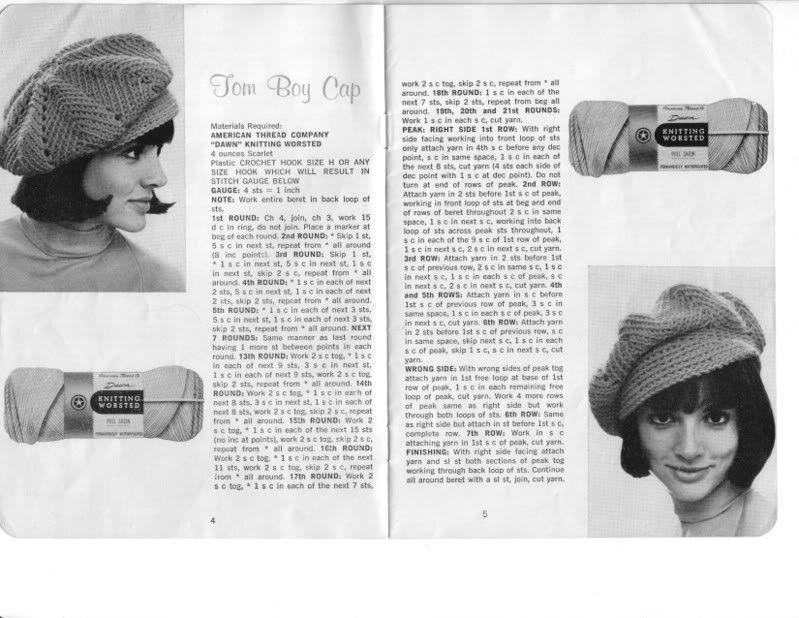 Vintage Tom Boy Cap! - free crochet pattern | crochet caps ...