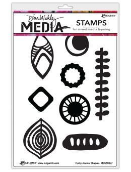 Ranger Ink Dina Wakley Media Unmounted Rubber Stamps For the Love of Circles