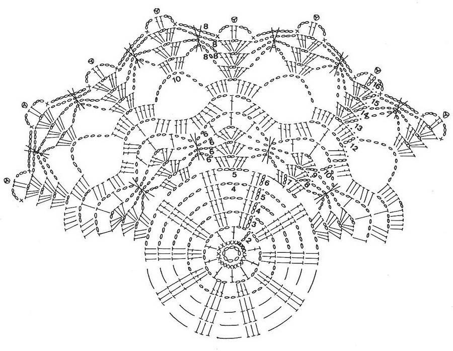 Crochet Art: Crochet Free Pattern of Wonderful Doily | crochet ...