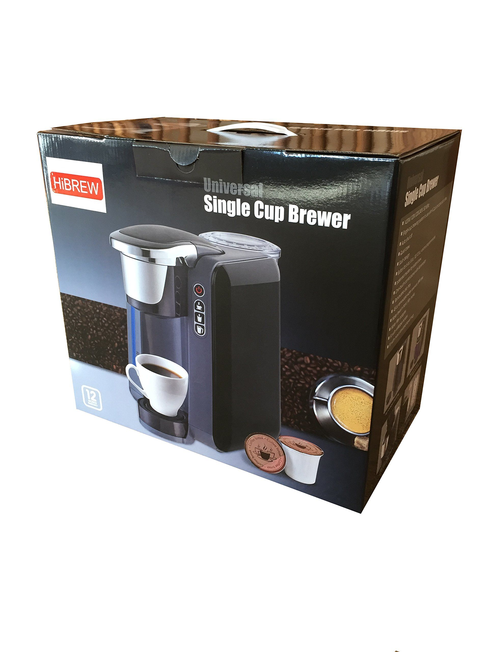 Hibrew single serve programmable k cup coffee maker brewing syste