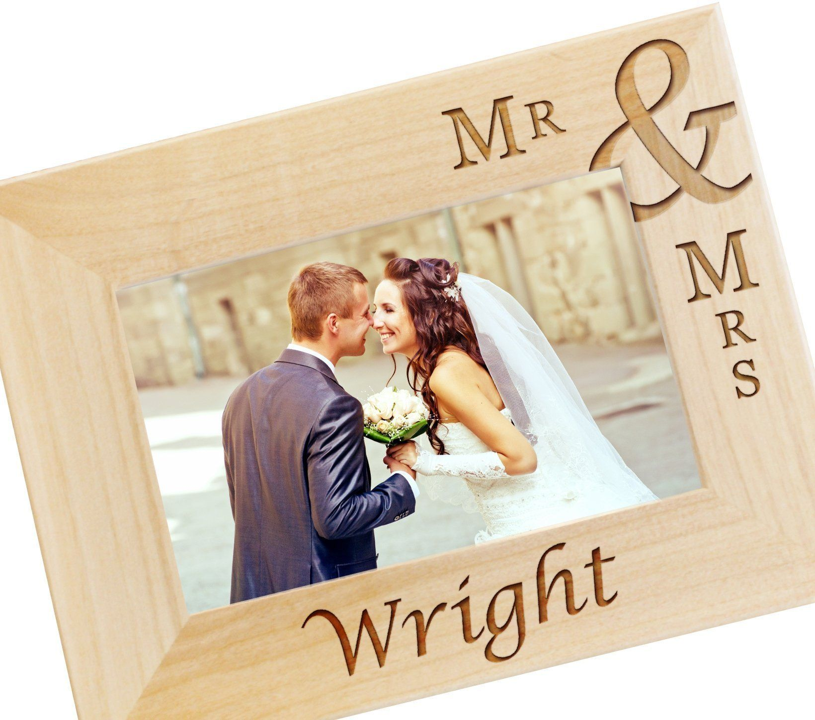 Personalized mr and mrs picture frame engraved wood photo frames ships fast personalized wedding frame custom mr and mrs picture frame engraved photo frames for newlyweds wedding gift for couple jeuxipadfo Choice Image