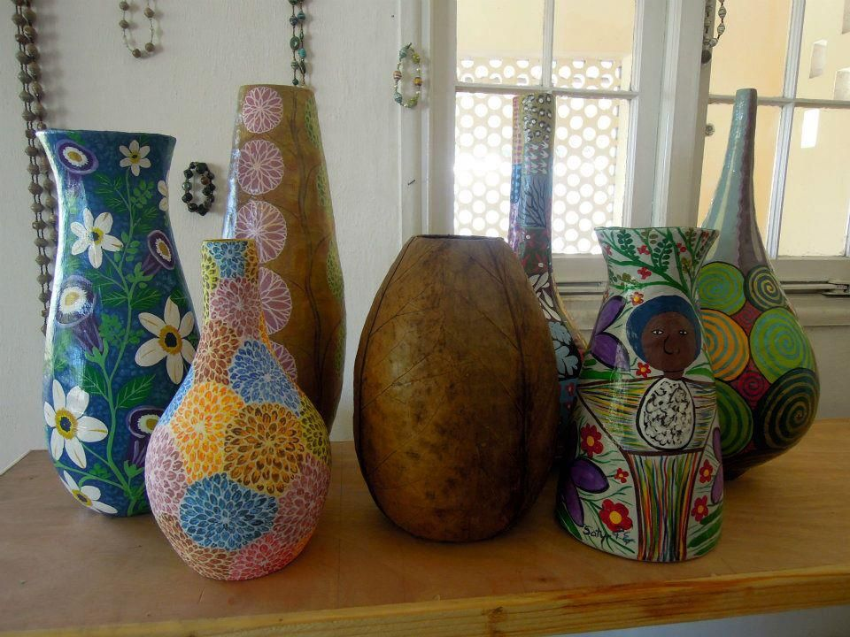Papier Mache Vases Are Great Decoration For A Bright Home