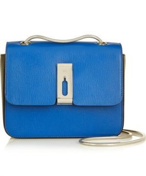 ANYA HINDMARCH Albion small two-tone leather shoulder bag