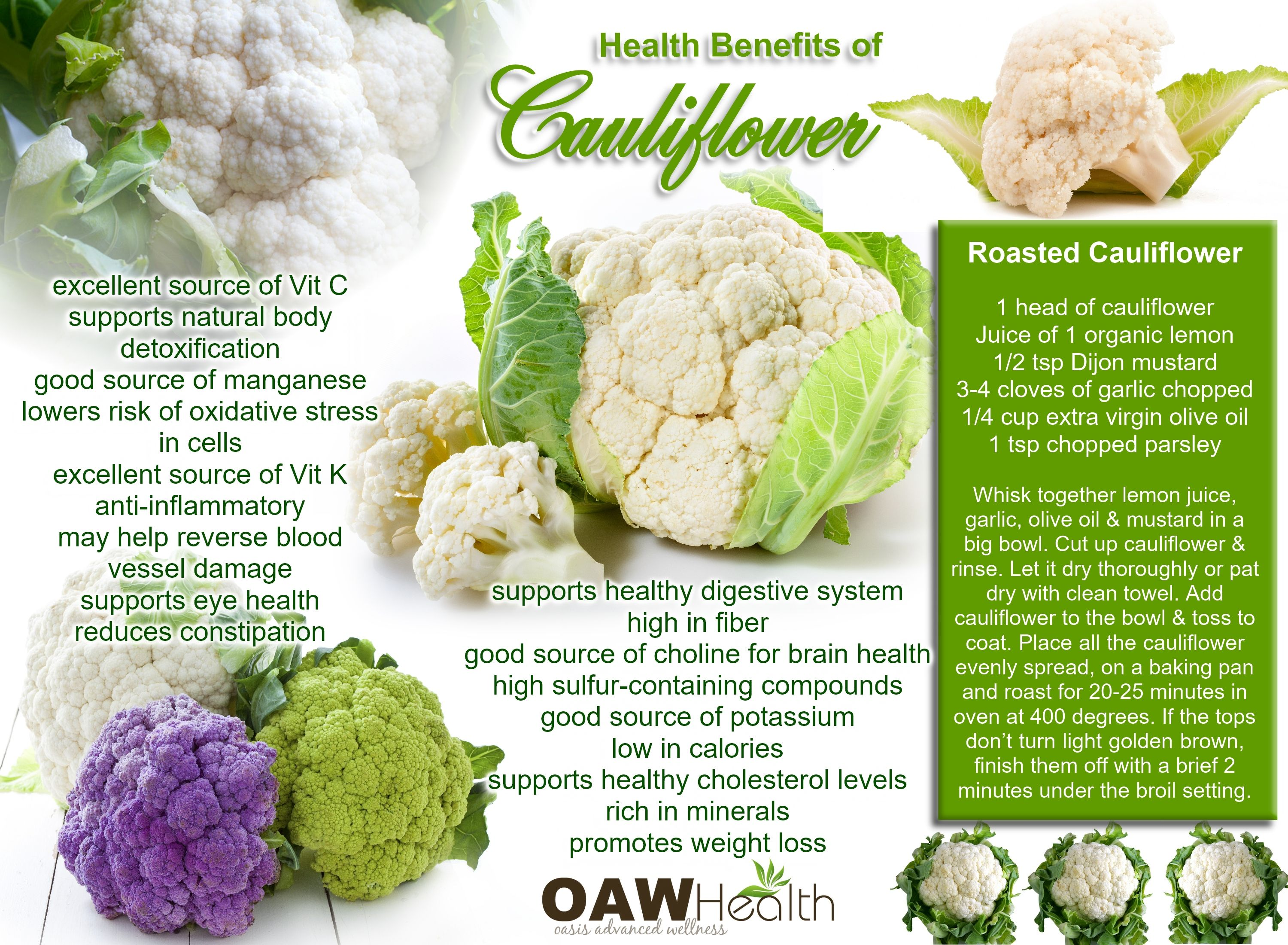 Cauliflower strengthens blood vessels and liver 99