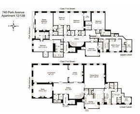 740 Park Avenue, Old New York apartment floor plan. Nice