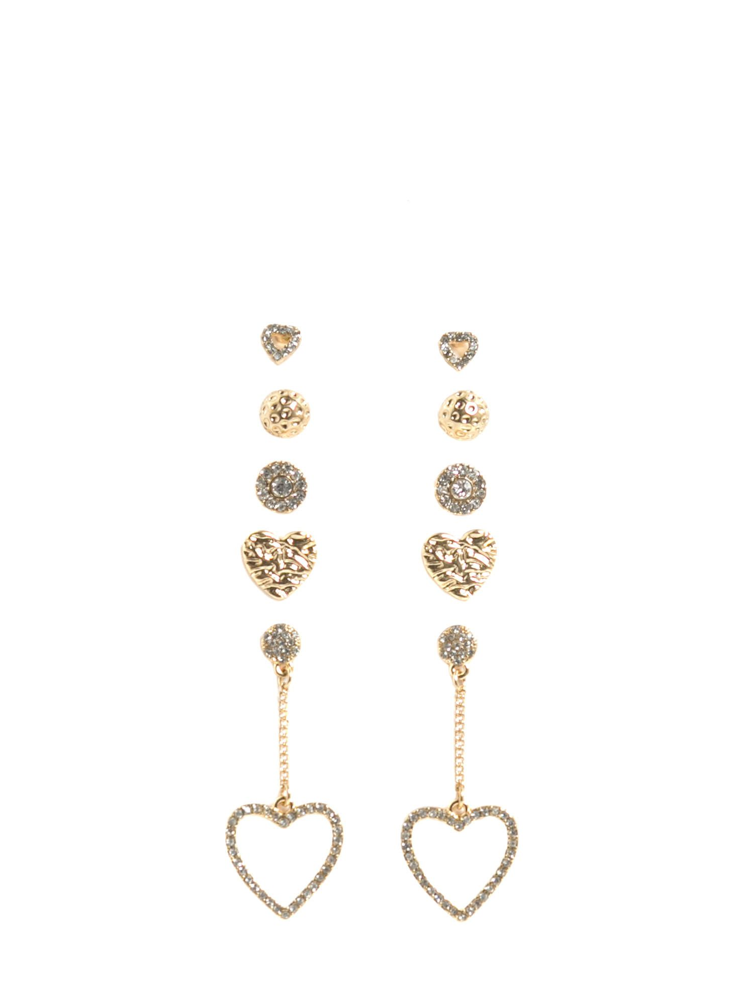 9e30d8d85aec Have Some Heart 5-Pair Earring Set