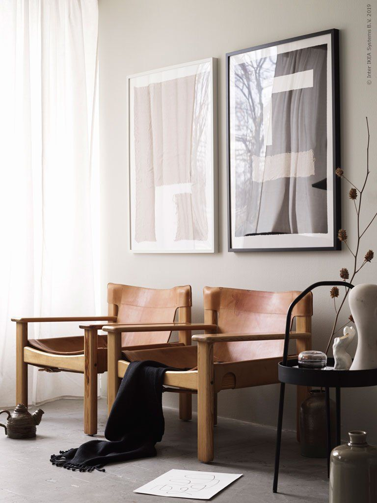 These Vintage Leather Ikea Armchairs Called Natura - Vintage Wohnzimmer Ikea