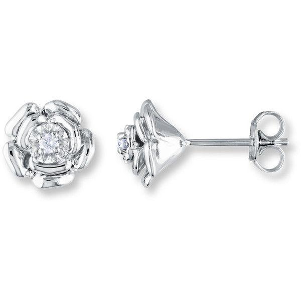 Artistry Diamonds Blue Diamond Earrings 1/20 ct tw Round-cut Sterling Silver kptoN1