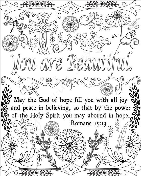 Encouraging Words Bible Verse Coloring Pages Scripture Etsy Bible Verse Coloring Page Bible Verse Coloring Christian Coloring