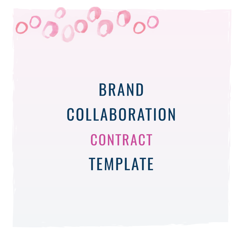 Brand Collaboration Contract Template  Template And Influencer