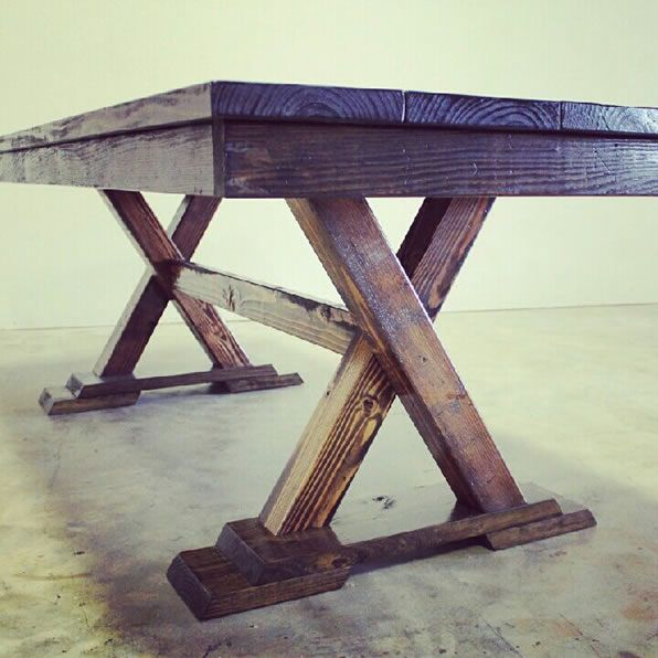 James+James trestle table. #James+James - just ordered my new kitchen table REALLY similar to this one :)  come on September 20th!!!!