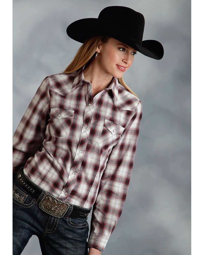 Roper | Women's Long Sleeve Plaid Western Shirt | Country Outfitter