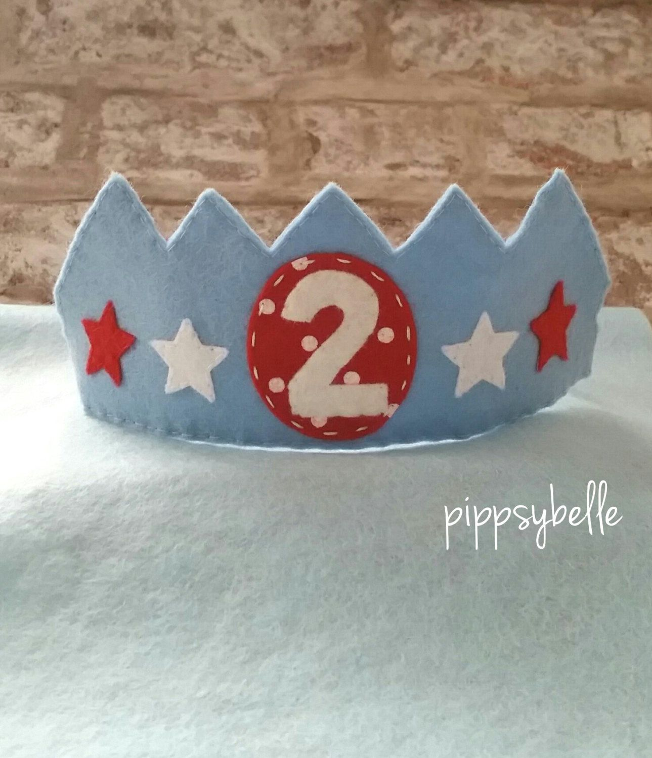 Birthday Crown Boy Gift For 2yr Old Felt Boys Party By Pippsybelle On Etsy