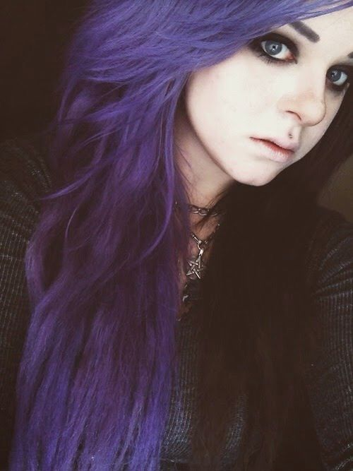Half And Half Hair Dye Purple And Black Dyed Hair Purple Pastel Pink Hair Dye Half And Half Hair