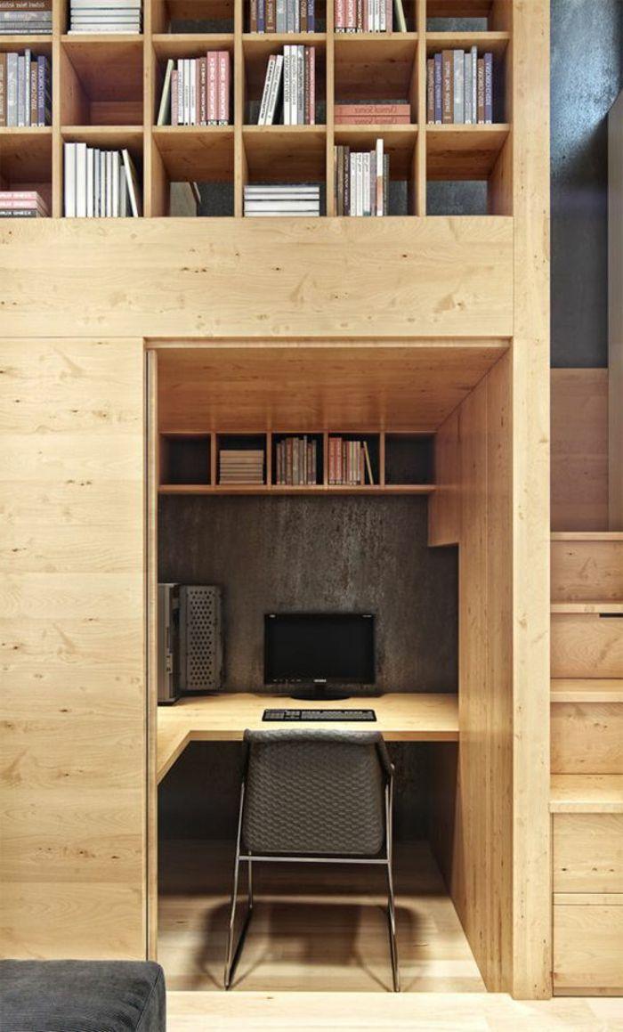 Le Meuble Informatique 80 Idees Magnifiques En Photos Archzine Fr Appartement Urbain Appartement Avec Petit Grenier Amenagement Maison