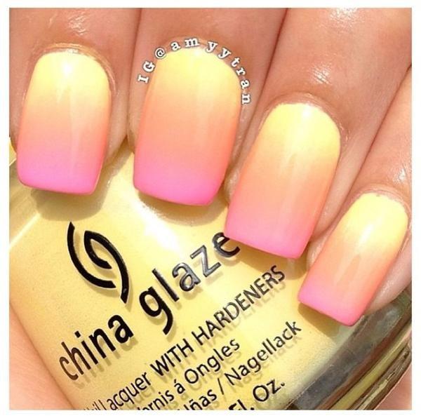 Summer ombré I like these colors | Nails | Pinterest | Lustrador ...