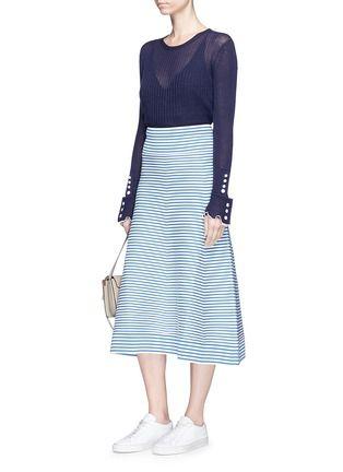 c7c59a657 Sonia Rykiel Knit Skirt, Midi Skirt, Striped Knit, Casual Attire, Sonia  Rykiel