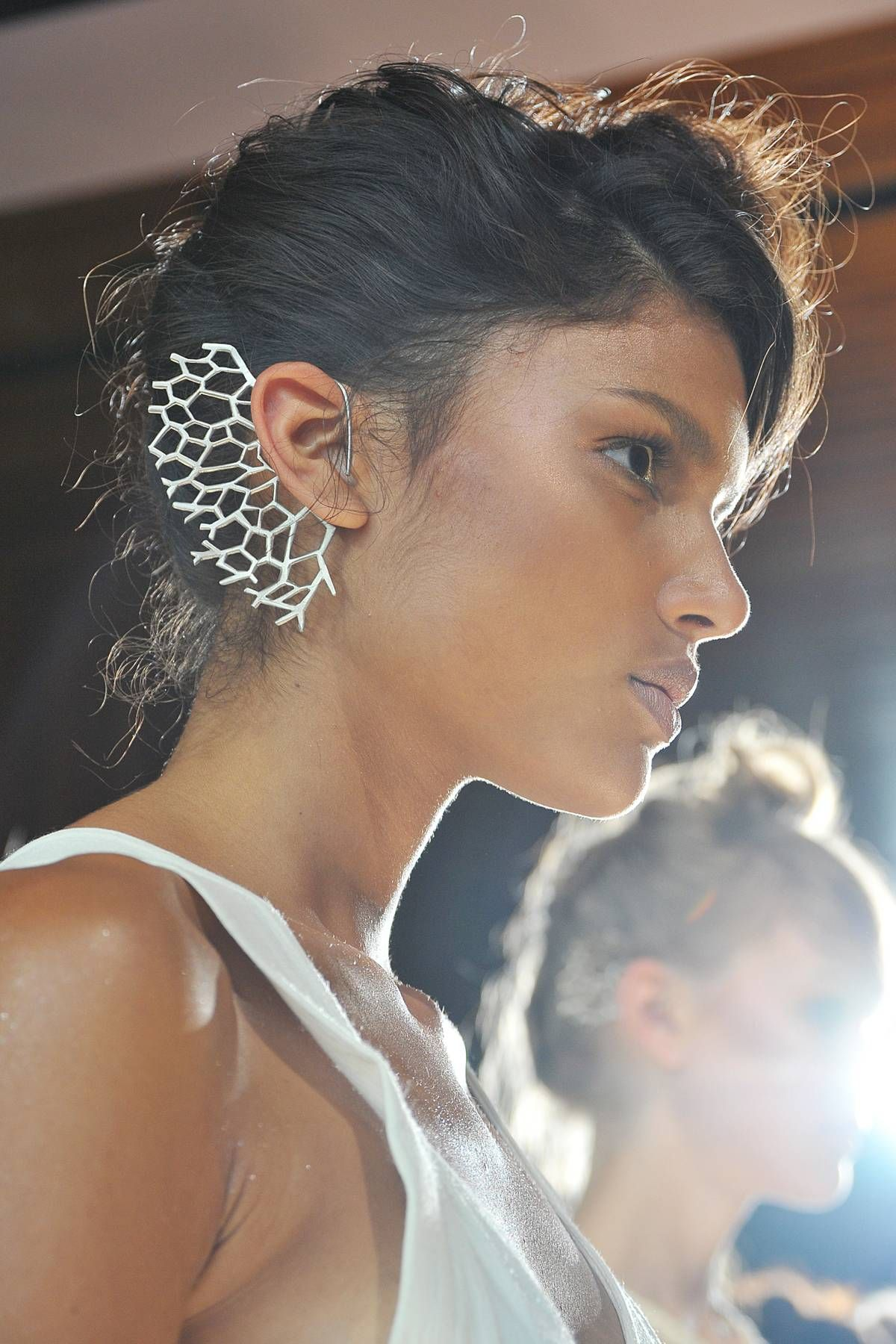 Ear cuff at Katie Gallagher Spring 2013 #FashionWeek