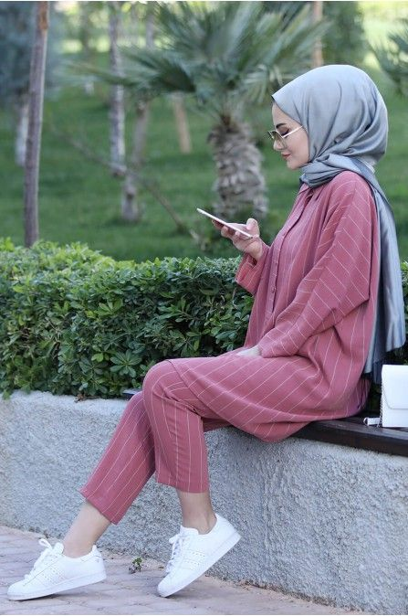 Nisa Tunik Pantolon Takım - Pudra - Seda Tiryaki #trendyoutfits