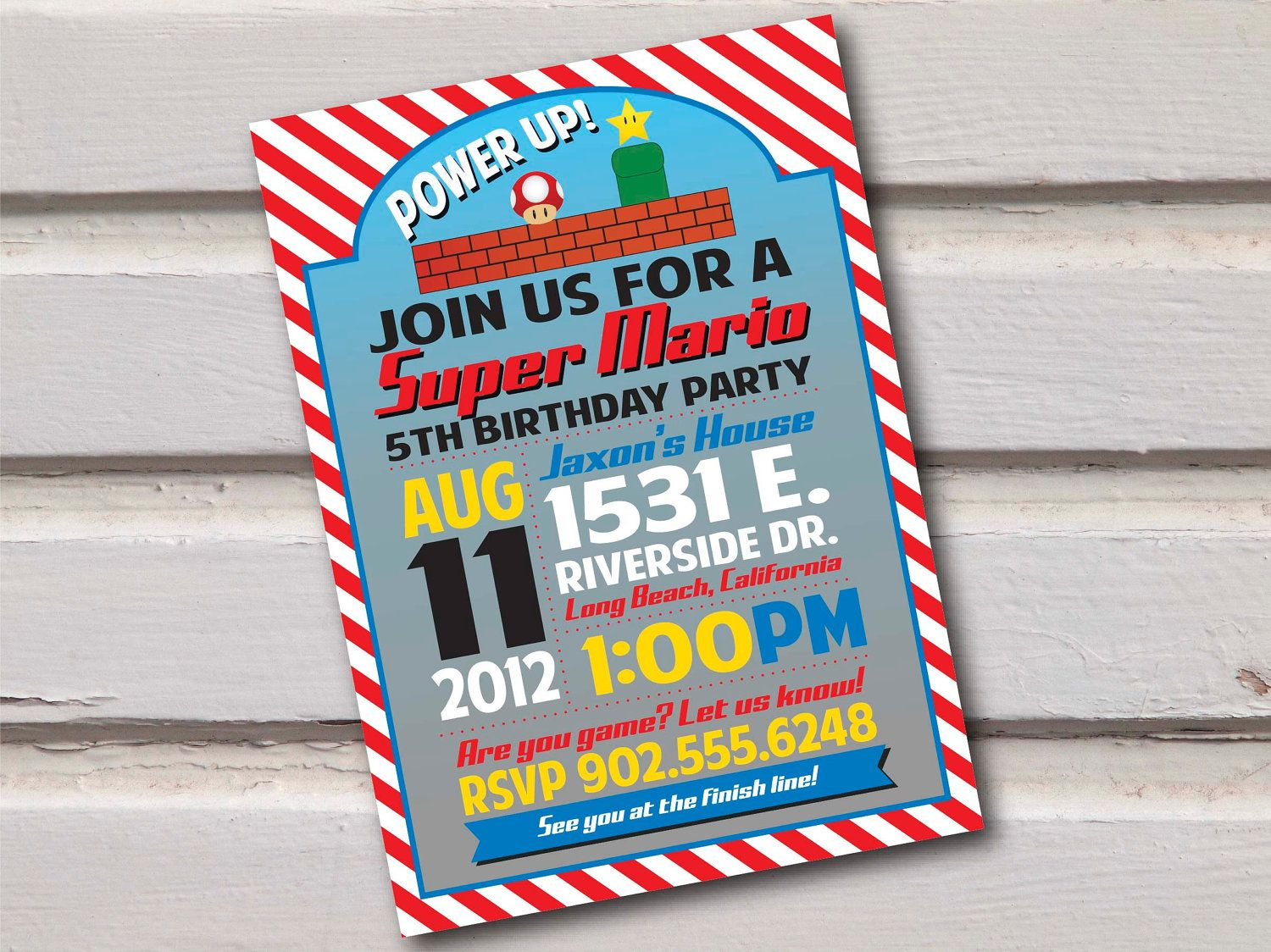 Super Mario Birthday Invitation My Etsy Shop Pinterest - Birthday invitation video