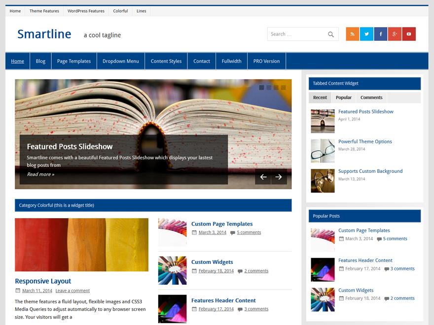 WordPress › Smartline Lite « Free WordPress Themes