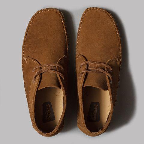 clarks originals weaver boot cola suede  clarks