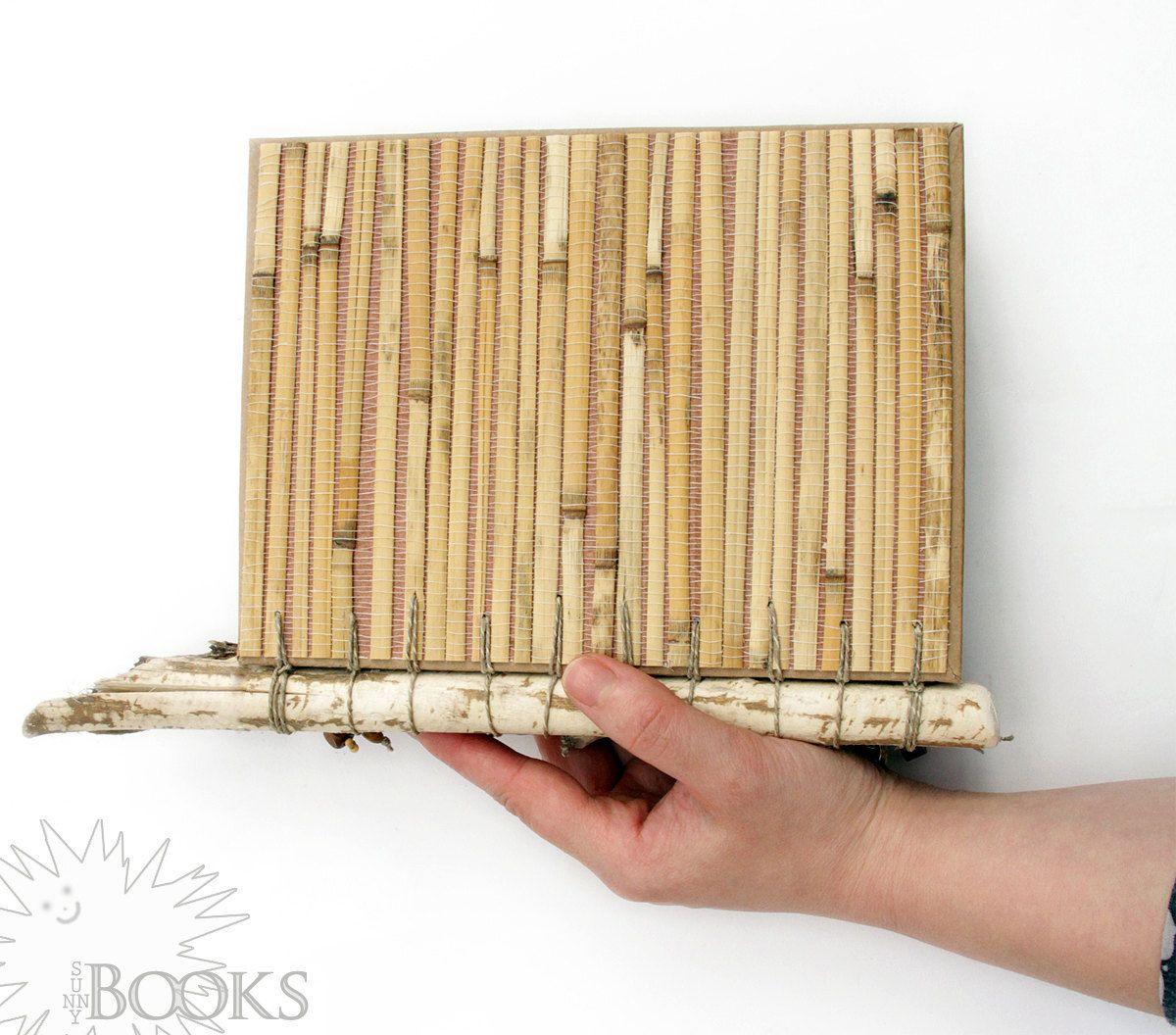 Eco Friendly Sketchbook, Beaver Chewed Wood Branches, Tea