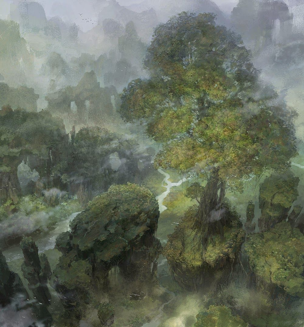 Sociolatte: Gorge and Forest Scape by Xin Xia