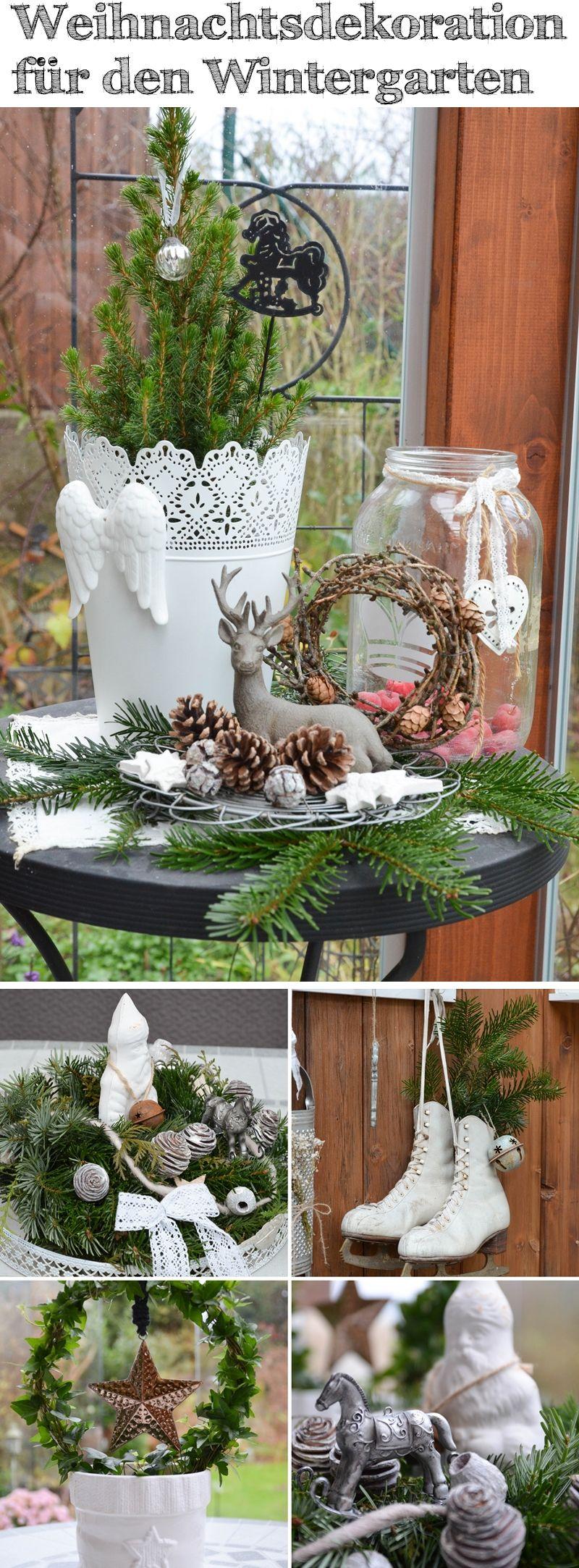Weihnachtsdekoration für den Wintergarten #weihnachten #weihnachtsdeko #wintergarten #naturmaterialien #weihnachtsbastelnnaturmaterialien