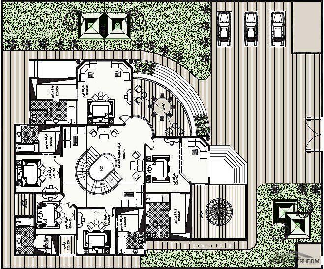 مخطط الفيلا رقم التصميم S2 من مبادرة بيتى 843 متر مربع Square House Plans Model House Plan House Layout Plans