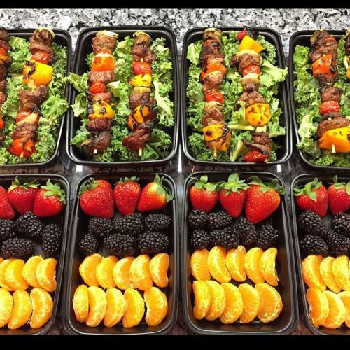 How did everybodys Meal Prep Sunday go?! Another healthy...  How did everybodys Meal Prep Sunday go?! Another healthy & inspirational meal prep by  @koy_enriquez -  Kabob Kale Salad  Top Tray: Bed of chopped Kale Montreal seasoned Sirloin steak melody peppered mushroom onion sweet pepper & cherrie tomato.  Bottom Tray: Strawberries Blackberries mandarins. -  Tag us in your awesome meal preps for a chance to get featured! Also check out our site for our favorite black friday weekend and…