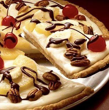 Recipe for Banana Split Dessert Pizza