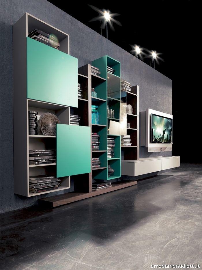 Soggiorno con porta tv rack evo Creative side - DIOTTI A&F ...