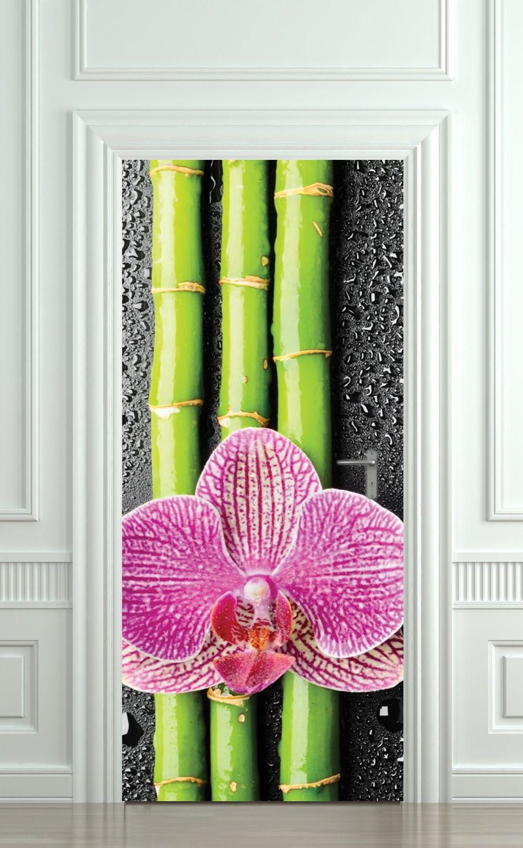 Dekor nalepnice bambus i cvet nalepnice za vrata www dekornalepnice rs