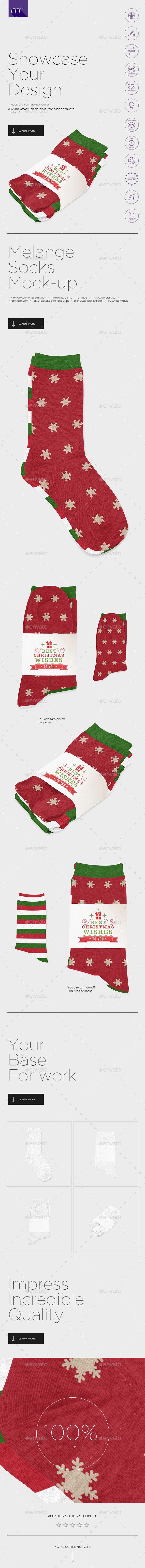 Melange Socks Mockup Photoshop Psd Stock Sock Download Https Graphicriver Net Item Melange Socks Mockup 19071891 Ref Pxcr Mockup Photoshop