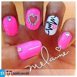 pintiera gardner on valentines  valentines nails