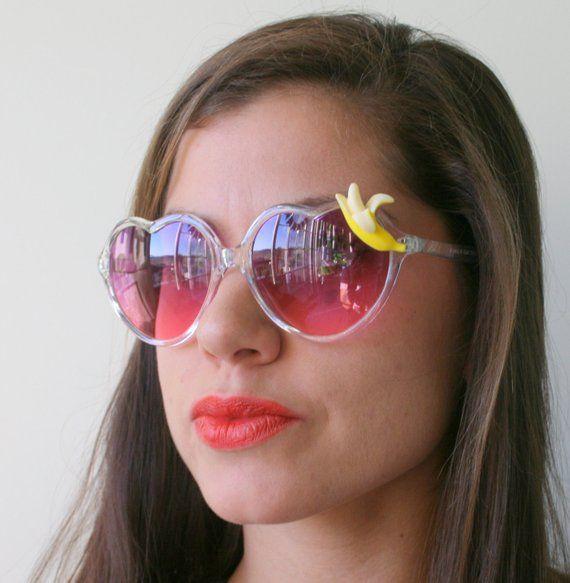 519a033d88 The BANANA Sunglasses..handmade. retro. colorful shades. hipster. kitsch.  shades. summer. banana. fr