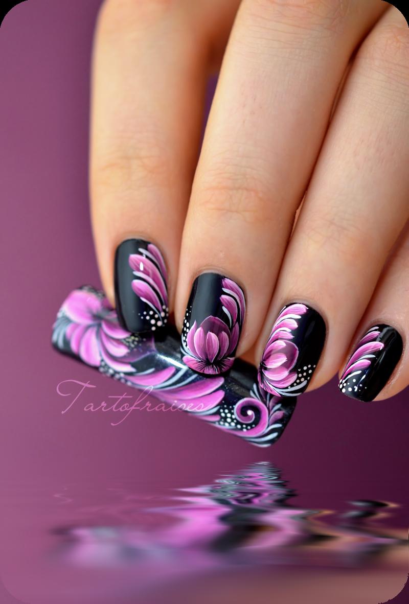 Nail art zhostovo fleur de lotus | nails | Pinterest | Lotus, Bling ...