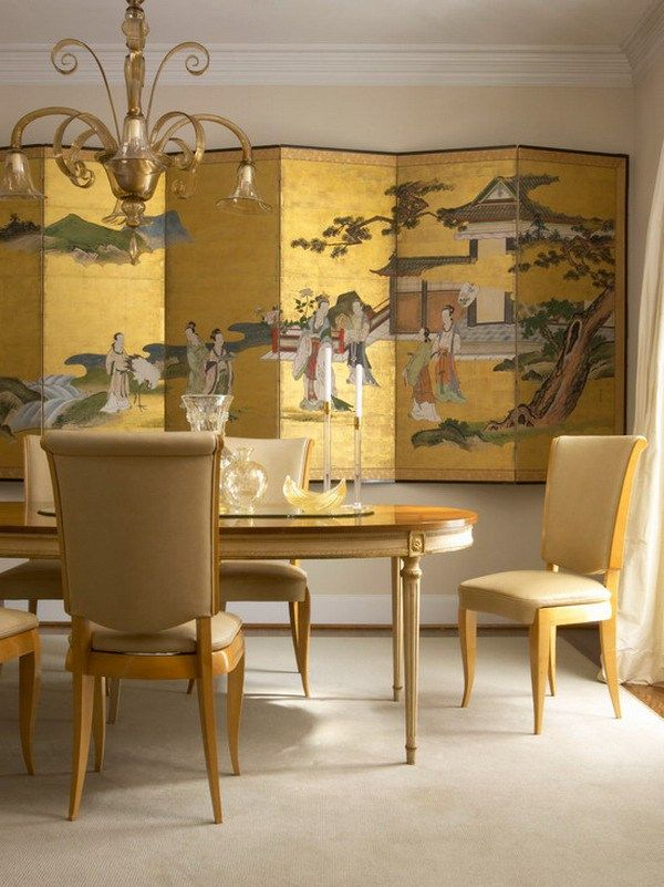 traditional style chinese luxury home wall murals dining room decor ...